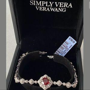 Vera Wang Garnet 1/7-ct. Diamond Bracelet BNIB